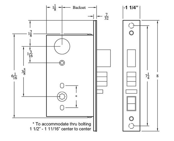 Period Brass Door Hardware Mortise Locks