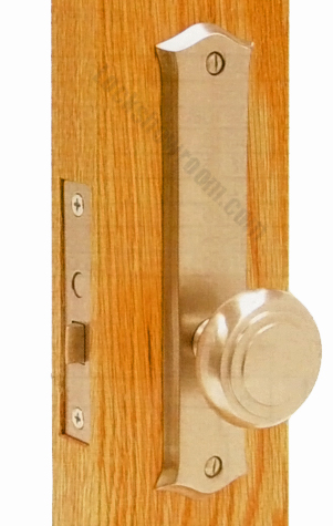 Decorative Screen Door Hardware locks and hinges on